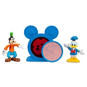 Mickey Mouse Clubhouse Donald & Goofy Figurine Set with Mystery Disc