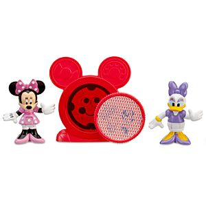 Mickey Mouse Clubhouse Daisy & Minnie Mouse Figurine Set with Mystery Disc
