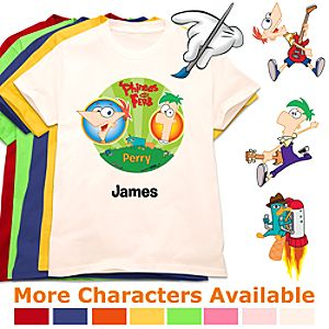 Create-Your-Own Phineas and Ferb Tee for Kids