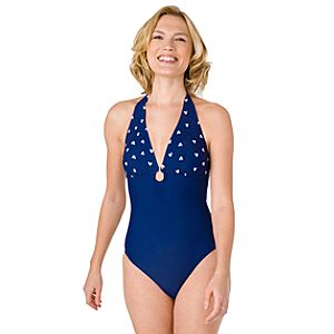 1-Pc. Navy Mickey Mouse Swimsuit for Women
