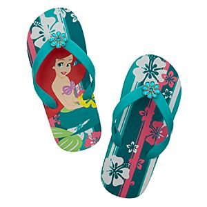 Summertime Fun Ariel Flip Flops