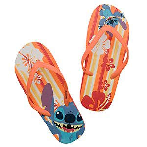 Summertime Fun Stitch Flip Flops