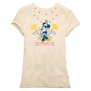 Homespun Minnie Mouse Junior Tee for Women