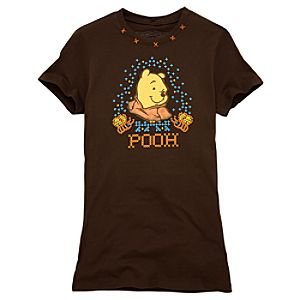 Homespun Pooh Junior Tee for Women