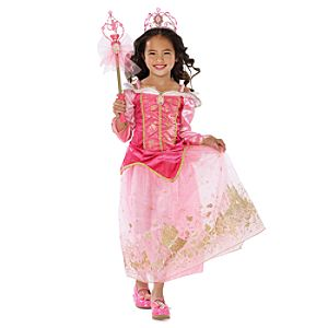 Golden Princess Sleeping Beauty Costume for Girls