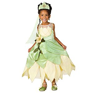 Deluxe Princess and the Frog Princess Tiana Costume for Girls
