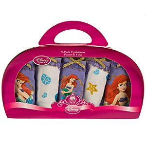 5-Pack Ariel Underwear Set for Girls