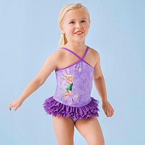 Deluxe Tinker Bell Swimsuit for Girls