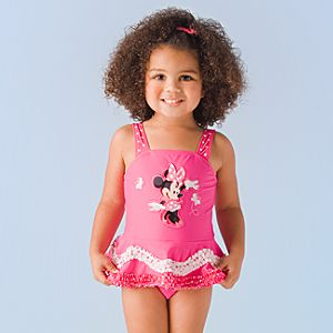 Deluxe Minnie Mouse Swimsuit for Toddler Girls
