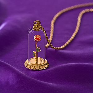 Enchanted Rose Beauty and the Beast Necklace by Disney Couture