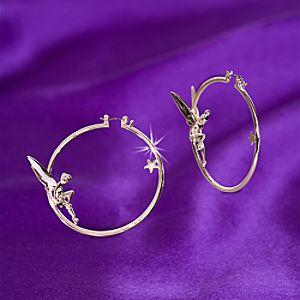 Tinker Bell Hoop Earrings by Disney Couture