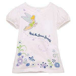Make the Leaves Sparkle Tinker Bell Tee for Girls
