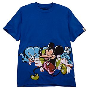 Limited BLOC28 Rime Graffiti Mickey Mouse Tee for Men