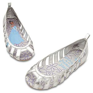 Metallic Princess Tiana Ballet Shoes for Girls