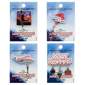 Mary Poppins The Broadway Musical Pin Set -- 4-Pc.