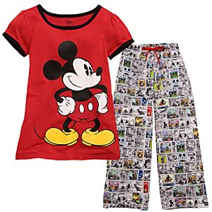 Comics Mickey Mouse Pajamas for Girls