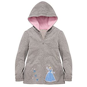 Glitter Cinderella Hoodie Jacket for Girls