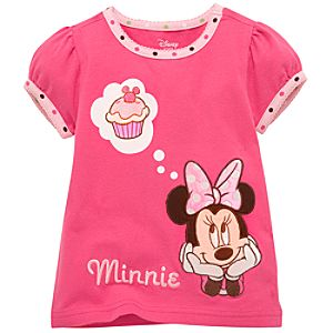 Cupcake Dreams Minnie Mouse Tee for Girls