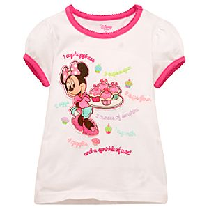 Cupcake Minnie Mouse Tee for Toddler Girls