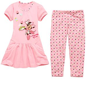 Cupcake Minnie Mouse Dress and Legging Set for Girls