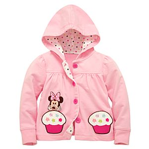 Personalized Cupcake Hoodie Minnie Mouse Jacket for Toddler Girls