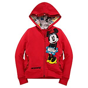Sequin Minnie Mouse Hoodie Jacket for Girls