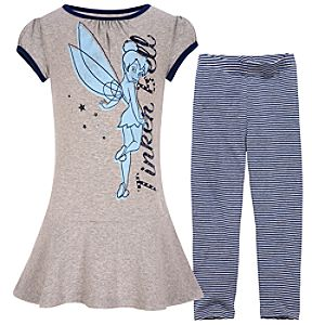 Tinker Bell Dress and Legging Set for Girls