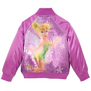 Personalized Varsity Tinker Bell Jacket for Girls