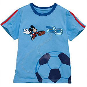 Soccer Mickey Mouse Tee for Toddler Boys