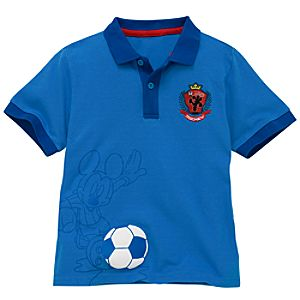 Soccer Mickey Mouse Polo Shirt for Toddler Boys