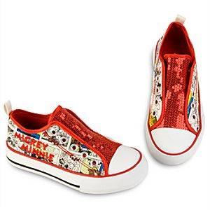 Comic Strip Mickey and Minnie Mouse Sneakers for Girls