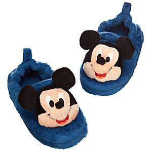 Plush Mickey Mouse Slippers