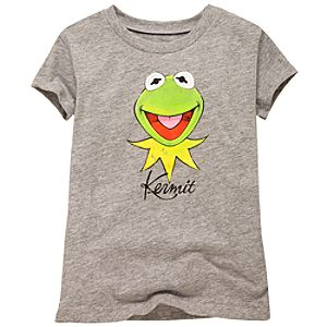 Muppets Gray Kermit Tee for Girls
