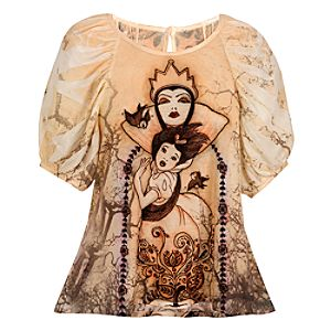 Fitted The Art of  the Disney Princess Evil Queen Top by Disney Couture
