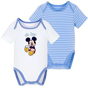 Mickey Mouse Bodysuits for Infants -- 2-Pc.