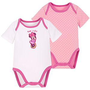 Minnie Mouse Bodysuits for Infants -- 2-Pc.