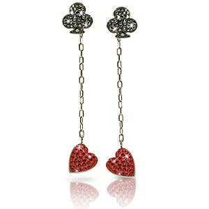 Jewelry & Watches Red Queen Alice in Wonderland Earrings by Swarovski