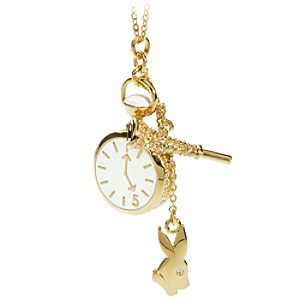 Jewelry & Watches White Rabbit Alice in Wonderland Necklace by Swarovski