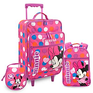 Personalized Minnie Mouse Luggage Set for Girls -- 3-Pc.