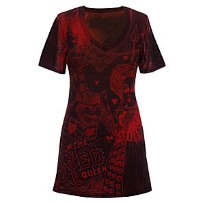 Fitted Red Queen Alice in Wonderland Tee for Women