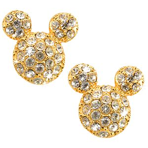 Pavé Crystal Mickey Mouse Ears Earrings by Disney Couture