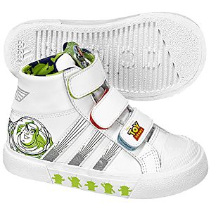 Buzz Lightyear Toy Story Sneakers for Toddler Boys by Adidas -- White