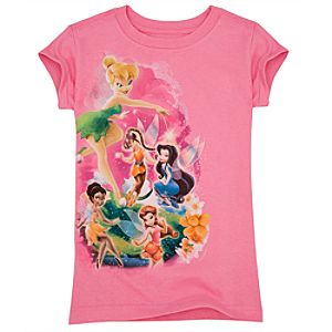 Organic Glitter Disney Fairies Tee for Girls