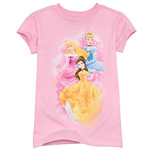 Organic Glitter Disney Princess Tee for Girls