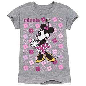 Sparkle Minnie Mouse Tee for Girls