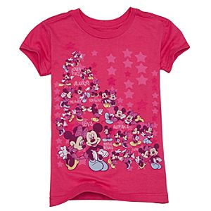 Organic Glitter Minnie and Mickey Mouse Tee for Girls
