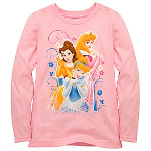 Organic Long-Sleeve Disney Princess Tee