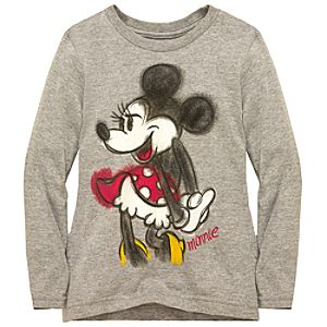 Organic Long-Sleeve Minnie Mouse Tee