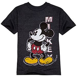 Organic Mickey Mouse Tee for Boys -- Gray