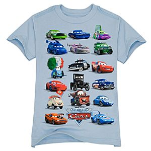 Organic The World of Cars Tee for Boys